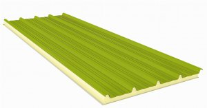Sandwich panel with Fiberglass 80mm