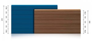 Insulated panels for sectional doors - residential - ribbed / ribbed