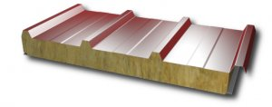Sandwich panel for roof with mineral wool core 180mm