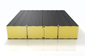 Sandwich panel with polyurethane core for chill rooms 220mm