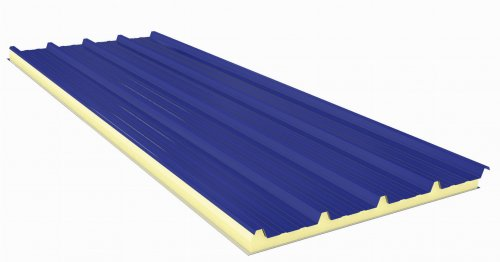 Sandwich panel with Fiberglass  50mm