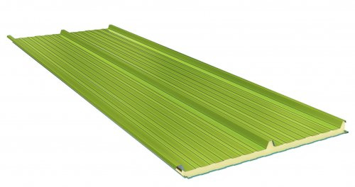Roof Sandwich panels with PU core G3. 60mm