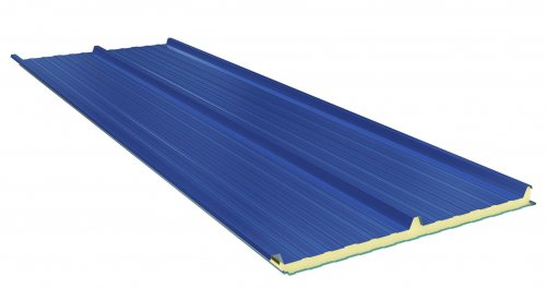Roof Sandwich panels with PU core G3. 80mm